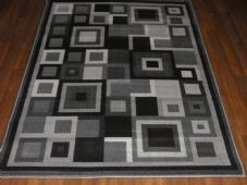 Modern Approx 6x4ft 120x170cm Woven Rug Sale Top Quality Dark Grey-Silver Square